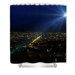 God Loves Cuenca Shower Curtain by Al Bourassa