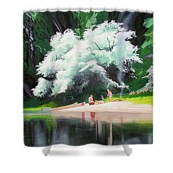 God Loves People Shower Curtain