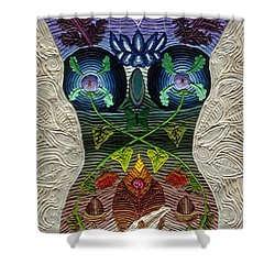 Godbody Shower Curtain by Arla Patch