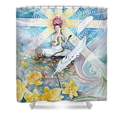 Goddess Awakened Shower Curtain