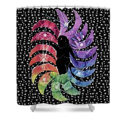 Shower Curtain featuring the mixed media Goddess by Kym Nicolas