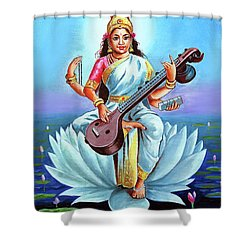Goddess Of Wisdom And Knowledge Shower Curtain