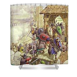 Godfrey De Bouillon's Forces Breach The Walls Of Jerusalem Shower Curtain