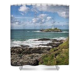 Godrevy Lighthouse 3 Shower Curtain