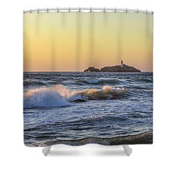 Godrevy Lighthouse  Shower Curtain
