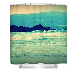 Godrevy Sea Shower Curtain