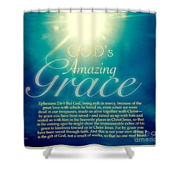 God's Amazing Gift Of Grace Shower Curtain