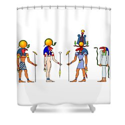 Gods And Goddess Of Ancient Egypt Shower Curtain