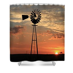 God's Country At Sunrise Shower Curtain