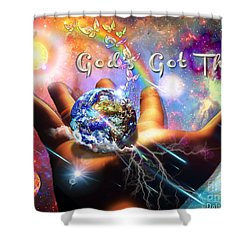 God's Got This Shower Curtain by Dolores Develde