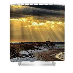 God's Light Shower Curtain