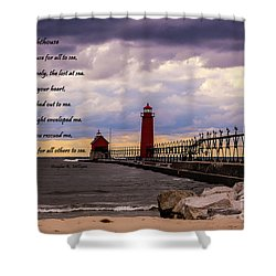 God's Lighthouse Shower Curtain