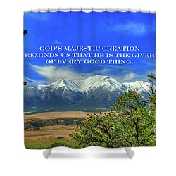 God's Majestic Creation Shower Curtain