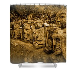 Shower Curtain featuring the photograph Gods Of Japan by Daniel Hagerman