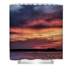 God's Paintbrush Shower Curtain