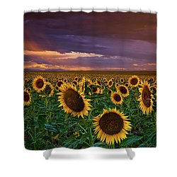 God's Painted Sky Shower Curtain by John De Bord