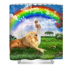God's Perfect Promise  Shower Curtain by Dolores Develde