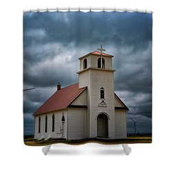 Shower Curtain featuring the photograph God's Storm by Darren White