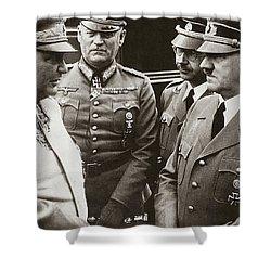 Goering Keitel Himmler And Hitler On His Birthday Circa 1941 Shower Curtain