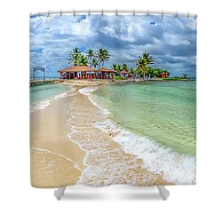 Goff's Caye Belize Pano Shower Curtain