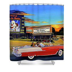 Goin' Steady - The Circle Drive-in Theatre Shower Curtain