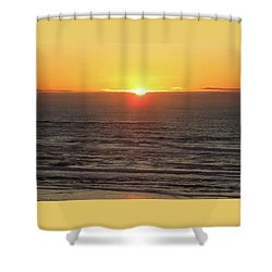 Going Down - Oregon Coast Sunset - Nature Photography Shower Curtain