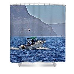 Going Fishing Shower Curtain