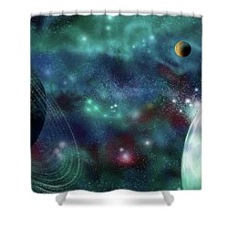 Going Further Shower Curtain