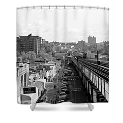 Shower Curtain featuring the photograph Going Home 4 Train by Dave Beckerman