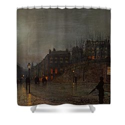 Going Home At Dusk Shower Curtain by John Atkinson Grimshaw
