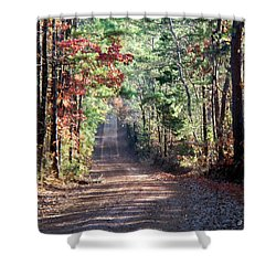 Shower Curtain featuring the photograph Going Home by Betty Northcutt