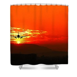 Going Home Shower Curtain by Charuhas Images