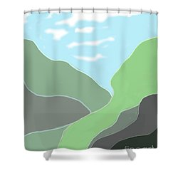 Going Home Shower Curtain by Fred Jinkins