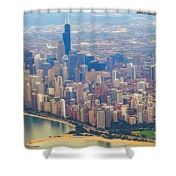 Going In For A Landing At #chicago Shower Curtain