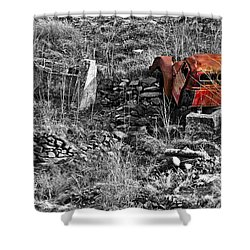 Going No Where Soon Shower Curtain by Charles Ables
