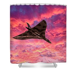 Going Out In A Blaze Of Glory Shower Curtain by Gary Eason