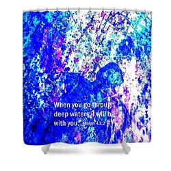 Shower Curtain featuring the painting Going Through Deep Waters by Hazel Holland