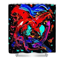 Living Heart Shower Curtain