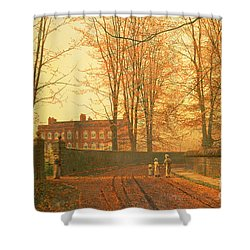 Going To Church Shower Curtain by John Atkinson Grimshaw