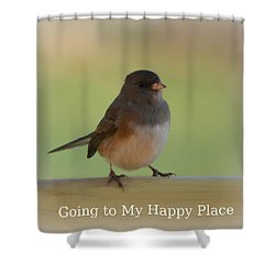 Going To My Happy Place Shower Curtain