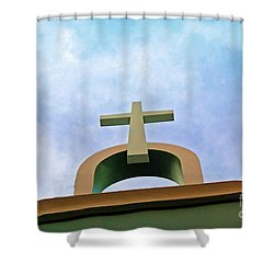 Going Up Shower Curtain by Debbi Granruth