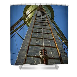 Shower Curtain featuring the photograph Going Up Mary Leila Cotton Mill Water Tower Art by Reid Callaway