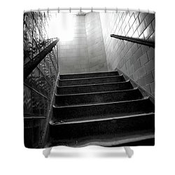 Going Up? Shower Curtain by Randall Cogle