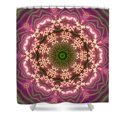 Shower Curtain featuring the digital art Gold 2 by Robert Thalmeier