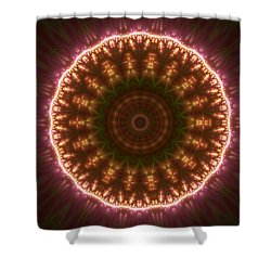 Shower Curtain featuring the digital art Gold 3 by Robert Thalmeier