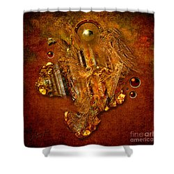 Gold Angel Shower Curtain