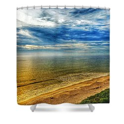 Gold Beach  Shower Curtain