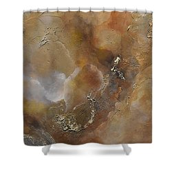 Shower Curtain featuring the painting Gold Bliss by Tamara Bettencourt