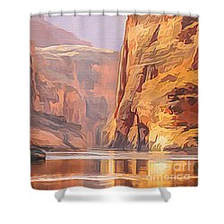 Gold Canyon River Shower Curtain