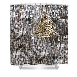 Shower Curtain featuring the photograph Gold Christmas Tree by Ulrich Schade